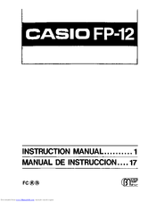 Casio FP-12 Instruction Manual