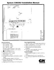 c&k 236i installation manual