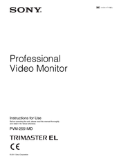 Sony trimaster EL PVM-2551MD Instructions For Use Manual