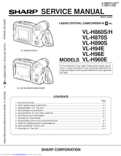 Sharp VL-H96E Service Manual
