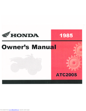 Honda 1985 ATC200S Owner's Manual