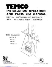 Temco gas fireplace blower – fotografija.