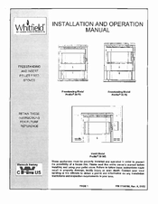 Whitfield Profile 20 FS Manuals on