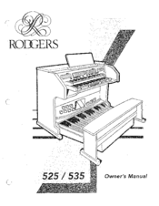 RODGERS 525 OWNER'S MANUAL Pdf Download