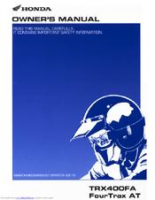 honda trx400fa manuals rh manualslib com Honda Rancher trx400fa service manual download