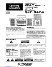 Pioneer S-L7-A Operating Instructions Manual
