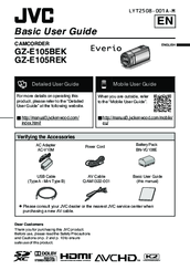 jvc everio gz e105bek basic user s manual pdf download rh manualslib com Everio Ever Color Plant everio user manual