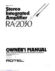 rotel ra 2030 manuals rh manualslib com