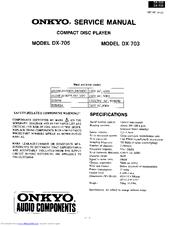 onkyo dx 705 manuals rh manualslib com onkyo c-705 service manual