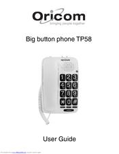 oricom tp58 manual pdf download rh manualslib com oricom n13134 user guide oricom secure 710 user guide