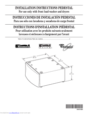 Whirlpool PEDESTAL Installation Instructions Manual