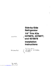 Whirlpool 4378871 Installation Instructions Manual