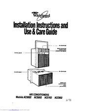 Whirlpool ACC602 Installation Instructions Manual