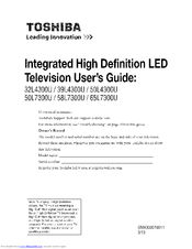 TOSHIBA 65L7300U User Manual