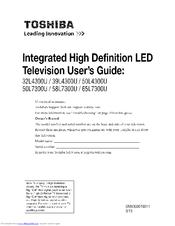 TOSHIBA 65L7300U User Manual