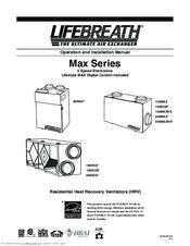 lifebreath hrv 155 max manual