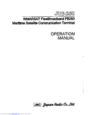 JRC JUE-250 - Operation Manual
