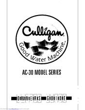 culligan ac 30 premier manuals rh manualslib com culligan ac30 service manual culligan ac-30 owner's manual