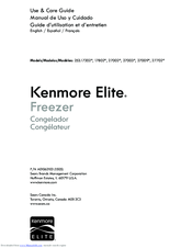 Kenmore Elite 253.17202 series Use & Care Manual