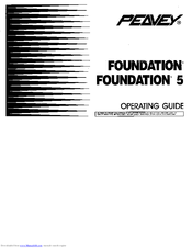 Peavey Foundation S Active Operating Manual