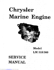 Chrysler Lm 318 Service Manual Pdf Download Manualslib