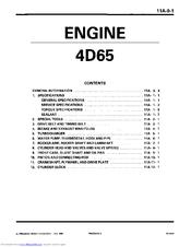 mitsubishi 4d65 manuals rh manualslib com mitsubishi pajero 4d56 service manual mitsubishi triton 4d56 service manual