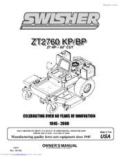 SWISHER ZT2760 BP OWNER'S MANUAL Pdf Download