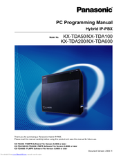 panasonic hybrid ip pbx kx tda100 manuals rh manualslib com panasonic kx tde100 programming manual panasonic kx tda100d installation manual