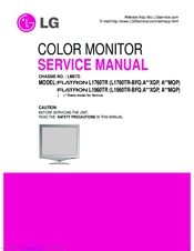 lg flatron l1760tr service manual pdf download rh manualslib com lg flatron w2353v manual lg flatron w2261vp manual