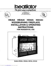 Heatilator HB42AI Manuals