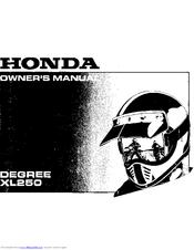 honda degree xl250 manuals rh manualslib com 1987 honda xl250r repair manual 1987 honda xl250 service manual pdf