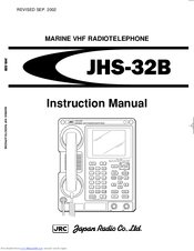 JRC JHS-32B Instruction Manual