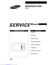 samsung m745 microwave oven repair manual