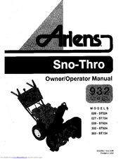 Ariens 932027 st724 manuals for Savio 724 ex manuale