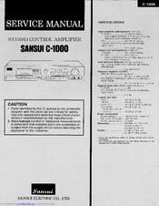sansui c 1000 manuals rh manualslib com sansui rz-1000 user manual Sansui 2000