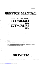Pioneer CT-3131 Service Manual