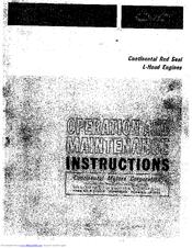 Continental Motors N62 Manuals