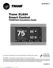 trane 824 thermostat. trane tcont824 installation manual 824 thermostat