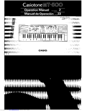 Casio Casiotone MT-500 Operation Manual