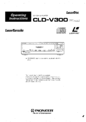 Pioneer CLD-V300 Operating Instructions Manual