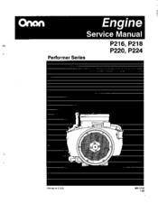 onan performer p218 manuals rh manualslib com Onan P216 Parts Lookup Onan P216 Parts Lookup