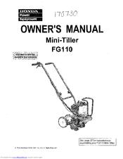 honda fg110 owner s manual pdf download rh manualslib com honda fg 201 service manual honda fg100 manual