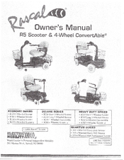Rascal R305 Manuals on