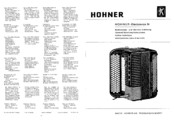 Hohner Electravox N General Service Instructions Manual
