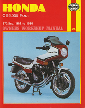 Honda 1982 CBX550 Four Owners Workshop Manual
