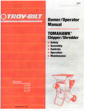 Troy Bilt Tomahawk 4 Hp Owner S