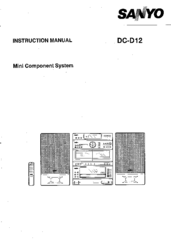 Sanyo DC-D12 Instruction Manual