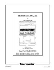thermador pdr366 manuals rh manualslib com thermador rdss30 service manual thermador service manual trb364gdhu15
