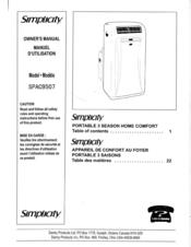 Simplicity Spac9507 Manuals Manualslib