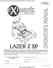 exmark lazer z xp operators manual